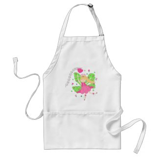 Pink tulips fairy - Apron apron