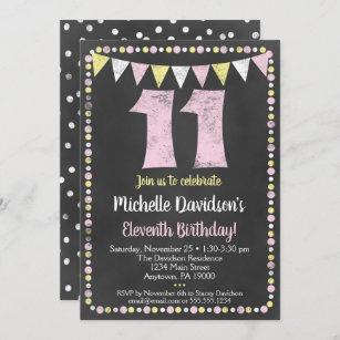 11 year old birthday invitations zazzle