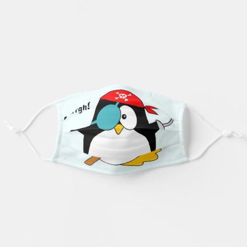 Pirate Penguin Argh! Adult Cloth Face Mask