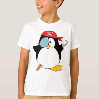 Pirate Penguin Graphic T-Shirt
