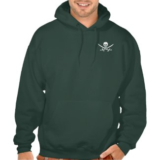 Pirate Skull and Swords Hooded Sweatshirt