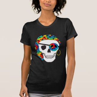 Pirate Skull Tie Dye Dark Tee