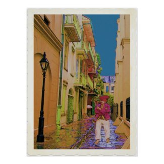 Pirates Alley Ghost print