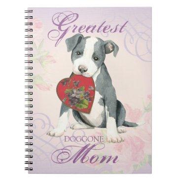Pit Bull Heart Mom Notebook