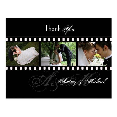 PixDezines FILMSTRIP WEDDING PHOTOS THANK YOU Postcard