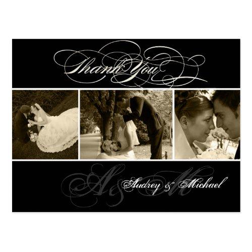 PixDezines Plain Wedding Photos Thank you Postcard