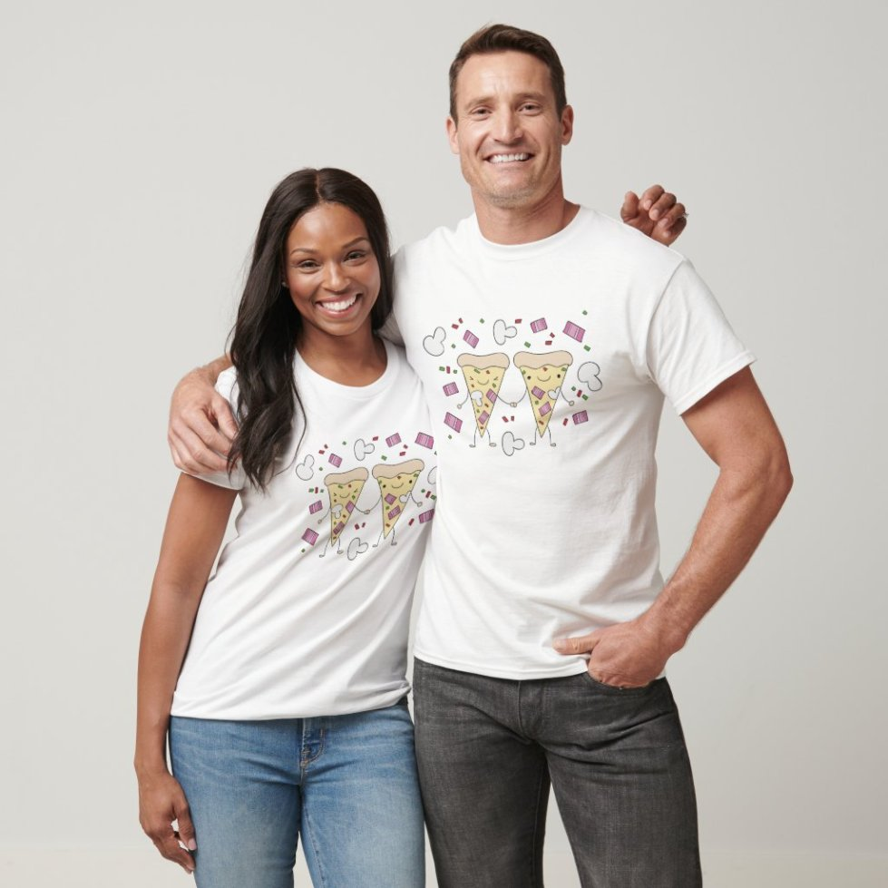 Pizza and Hot Dog Best Friend T-Shirt