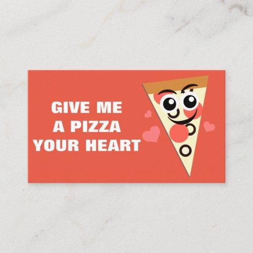 Pizza Mini Valentine Note Card