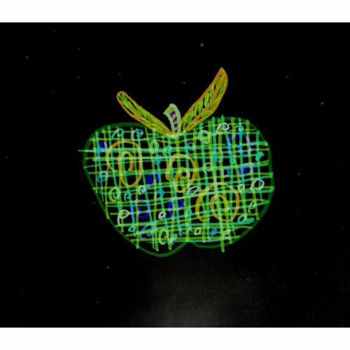 plaid apple for teachers bag