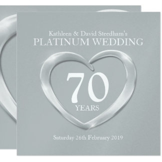 Silver Wedding Invitation Elegant Luxury Custom Handmade Engrave