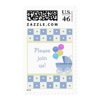 Please Join Us Baby Shower Postage Stamps stamp