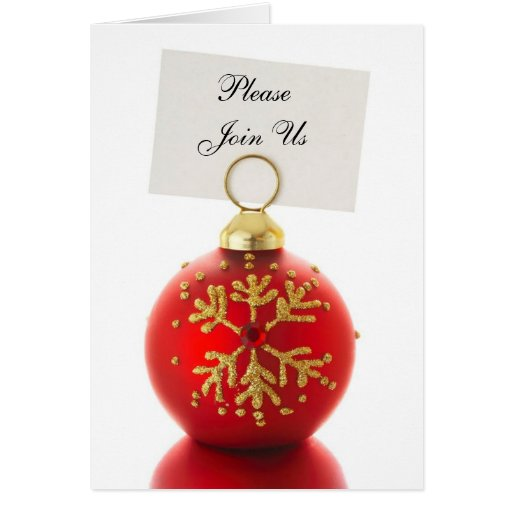 Please Join Us Holiday Invitation Cards Zazzle