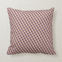 Plum Purple Gold Quilt Effect Pattern Pillows
