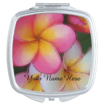 Plumeria Frangipani Flowers Mirror For Makeup