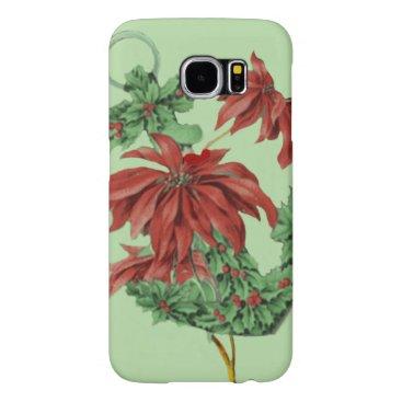 Poinsettia Holly Anchor Nautical Samsung Galaxy S6 Case