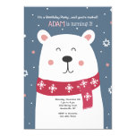 Polar Bear Birthday Party Invitation