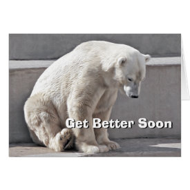 Polar Bear Get Better Soon Card