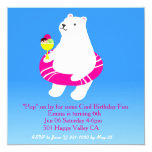 Polar Bear Pool Party Invitation