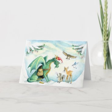 Polar Express Dragon - greeting card