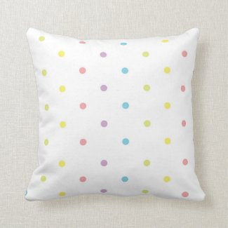 Polka Dots Colorful Pillow