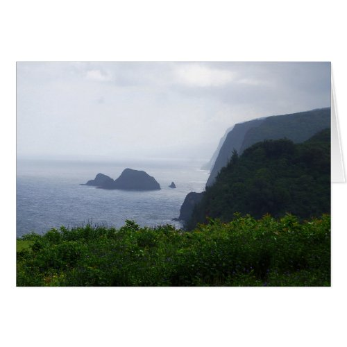Pololu Valley Lookout, Hawaii, Card card