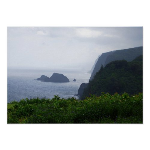 Pololu Valley Lookout, Hawaii, Print print