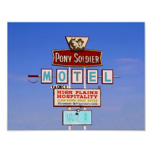 Pony Soldier Motel Sign, Tucumcari, N.M. Poster