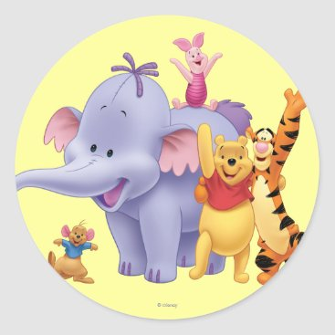 Pooh & Friends 4 Classic Round Sticker