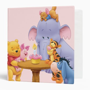 Pooh & Friends Birthday 3 Ring Binder