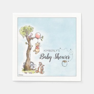 Pooh & Friends Watercolor | Baby Shower Napkins