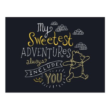 Pooh | My Sweetest Adventures Postcard