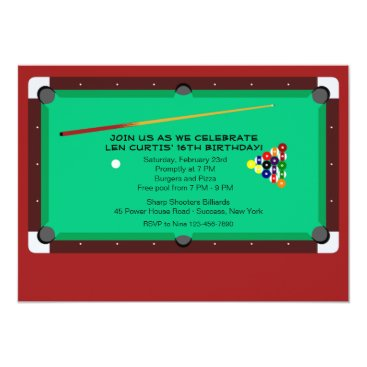 Pool Table Invitation