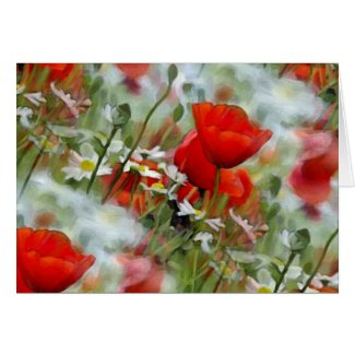 Poppies in the Field Cards