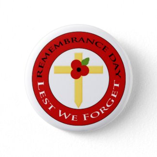 Poppy on cross - Badge button