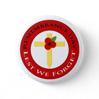 Poppy on cross - Badge button