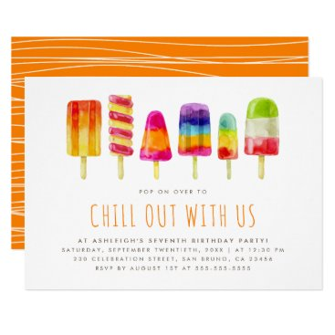 Popsicle Party | Kids Birthday Party Invitation