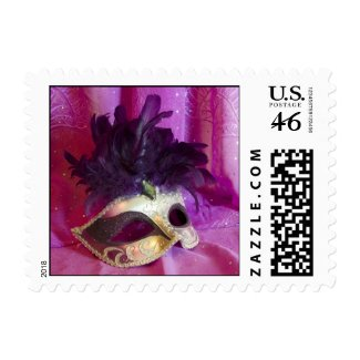 Postage Stamp - Purple Masquerade Mask stamp