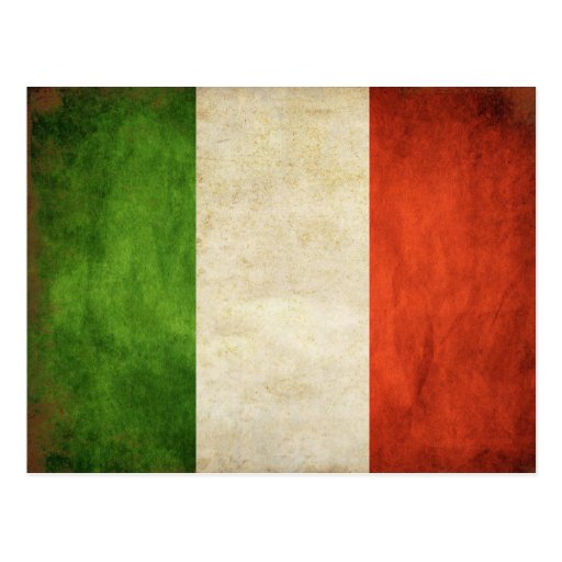 Postcard With Dirty Vintage Italian Flag Zazzle