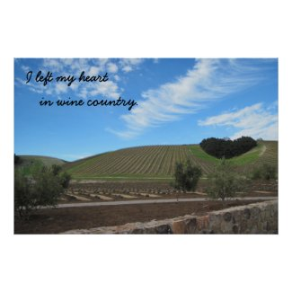 Poster: I left my heart in Wine Country