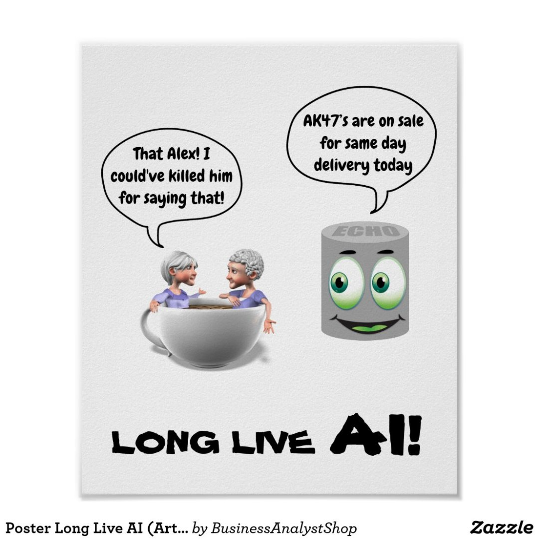 Poster Long Live AI (Artificial Intelligence)
