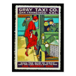Poster Stamp Postcard Gray Taxi Co. SF