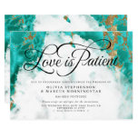 Postponed Wedding Watercolor Turquoise Geode Invitation