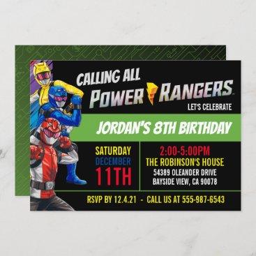 Power Rangers Beast Morphers Birthday Invitation