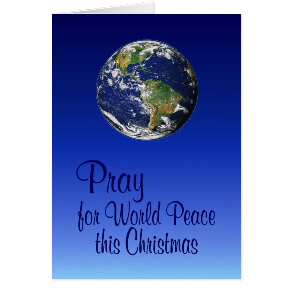 Pray For World Peace Card