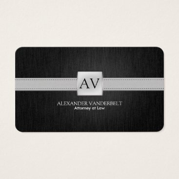 Premium Elegant Black and Silver Business Card
