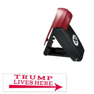 President Donald Trump Lives Here Funny Stamp