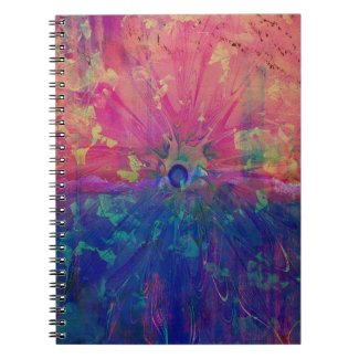 Pretty Abstract Watercolor Colorful Tie Dye Spiral Notebook