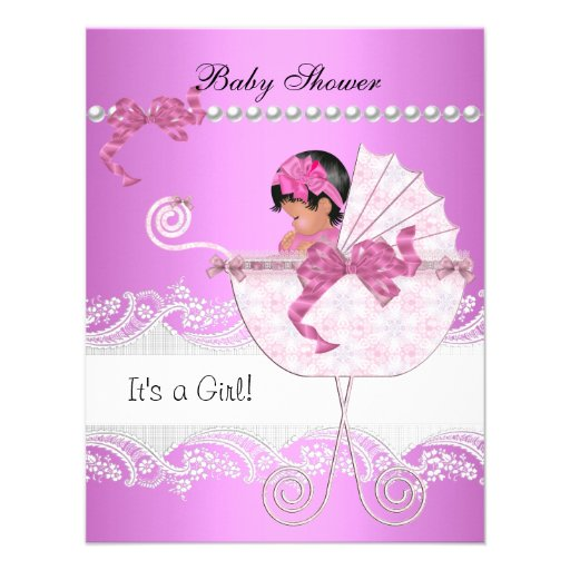Pretty Baby Shower Invitations