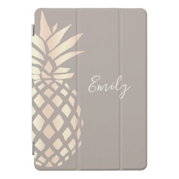 Pretty elegant copper rose gold pineapple & grey iPad pro cover