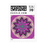 Pretty Pink Floral Design Postage